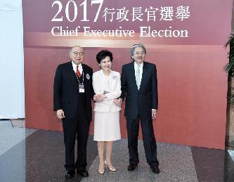 香港特區第五任行政長官選舉投票開始
