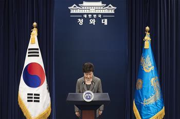 韓國憲法法院通過總統彈劾案