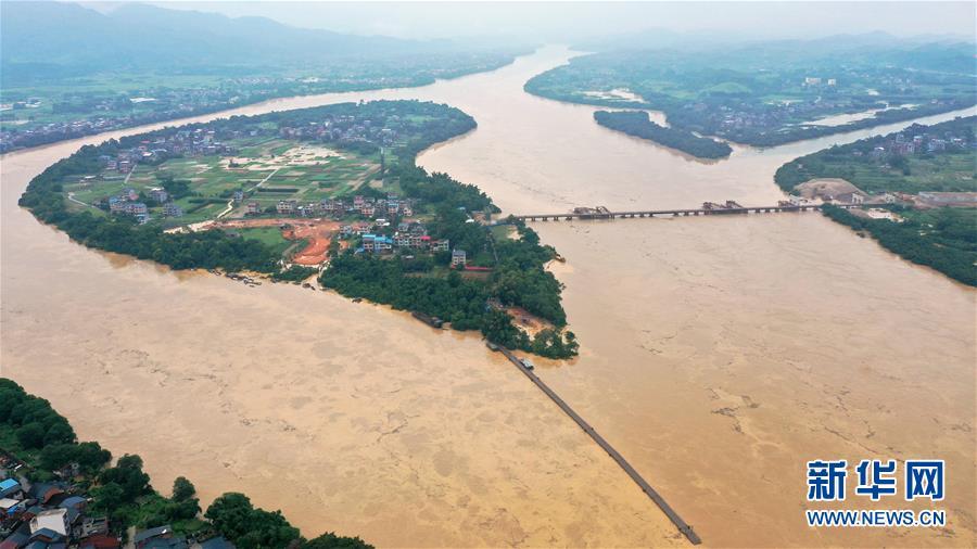 (防汛抗洪)(1)強降雨引發廣西融江水位暴漲