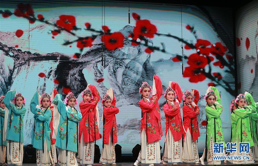 当日,武汉中小学戏曲进校园展演在武汉市洪山文体中心举行,按照幼儿园