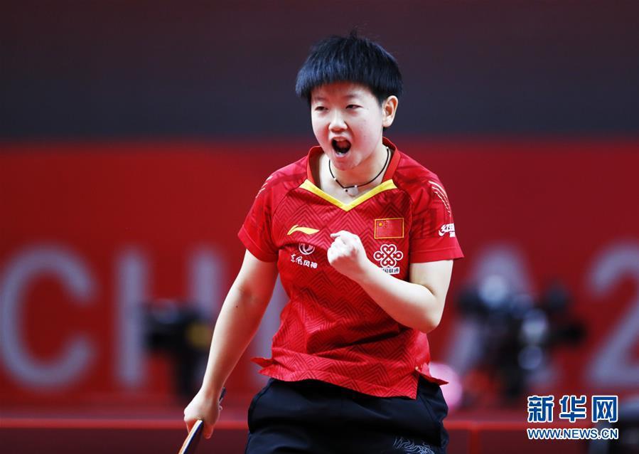 (體育)(1)乒乓球——奧運模擬賽:孫穎莎女單奪冠