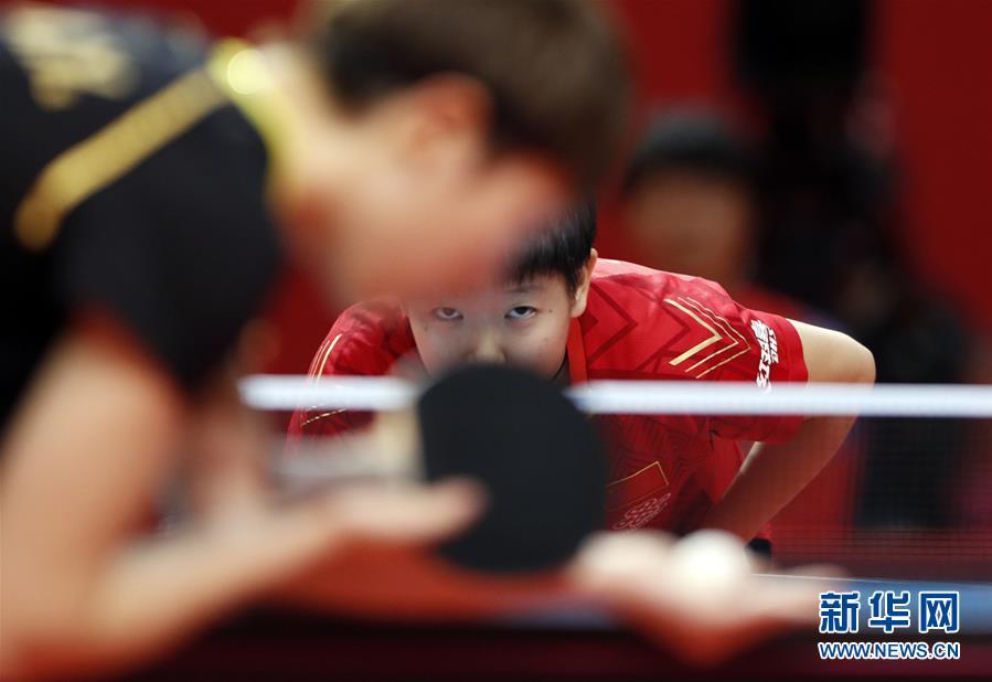 (體育)(4)乒乓球——奧運模擬賽:孫穎莎女單奪冠