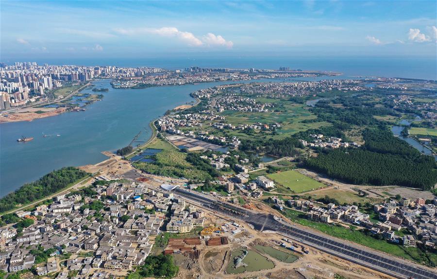 鳥瞰海口江東新區