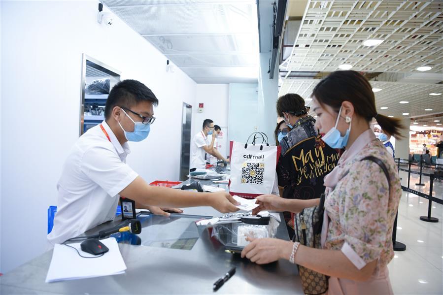 海南三亞機場新增免稅提貨點啟用