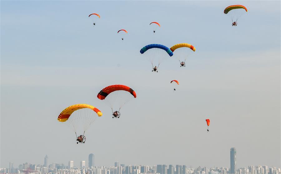 海口動力傘魅力海岸錦標賽開賽