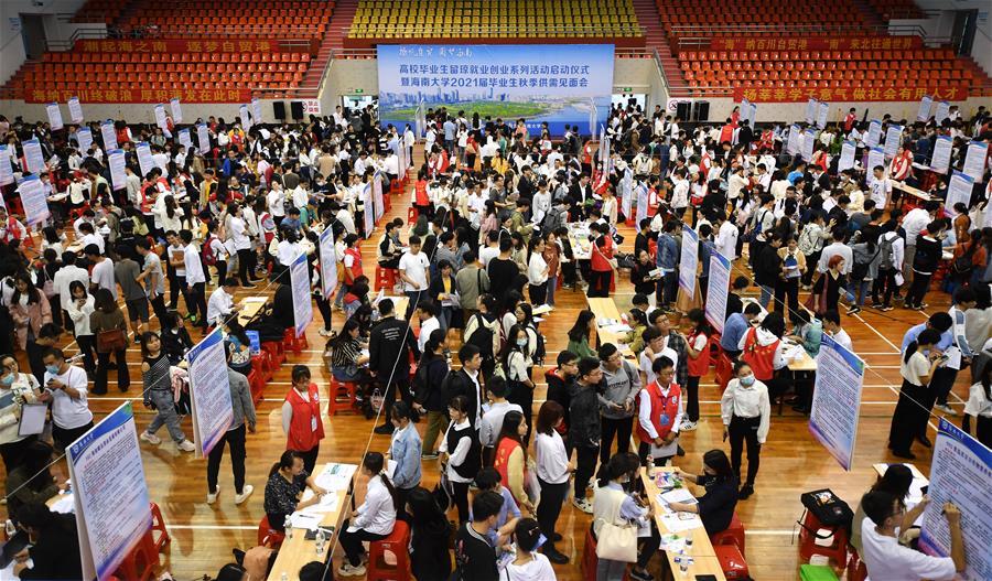 海南:畢業生求職忙
