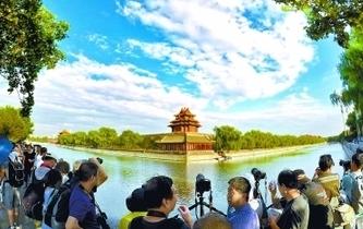 藍天白雲下的京城美景