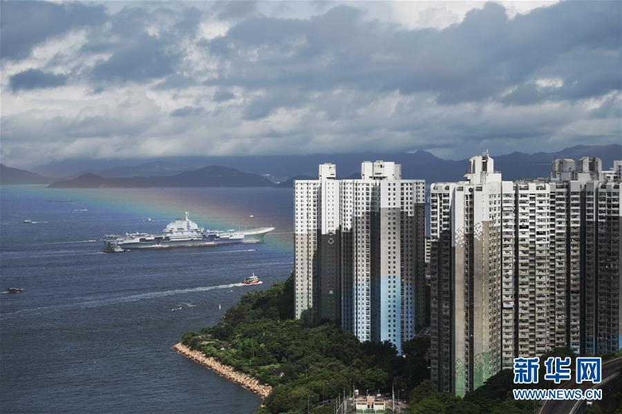 (軍事)(1)海軍航母編隊抵達香港