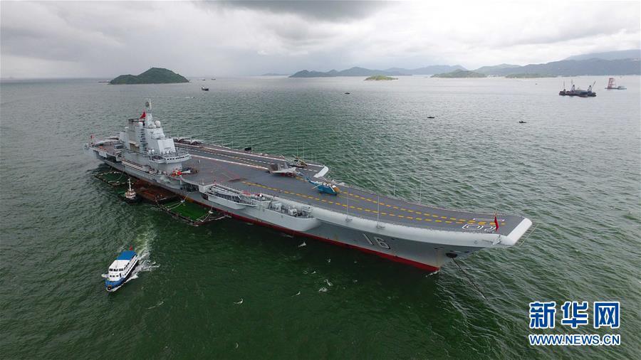 (軍事)(3)海軍航母編隊抵達香港