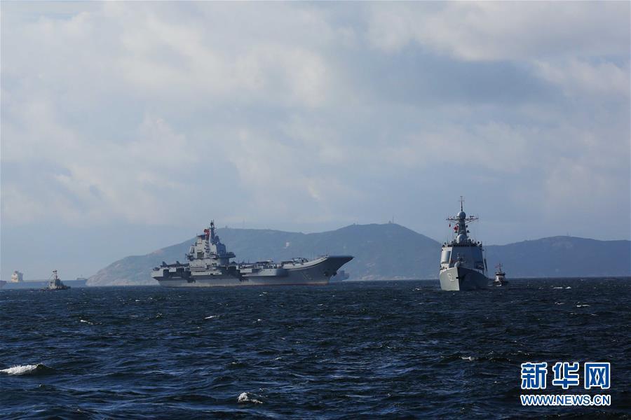 (軍事)(4)海軍航母編隊抵達香港