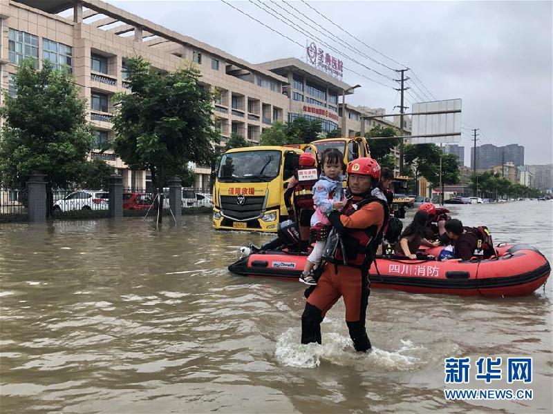 (防汛抗洪)(2)四川強降雨持續 逾10萬人受災
