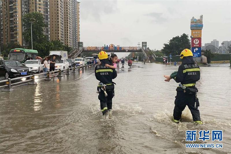(防汛抗洪)(6)四川強降雨持續 逾10萬人受災