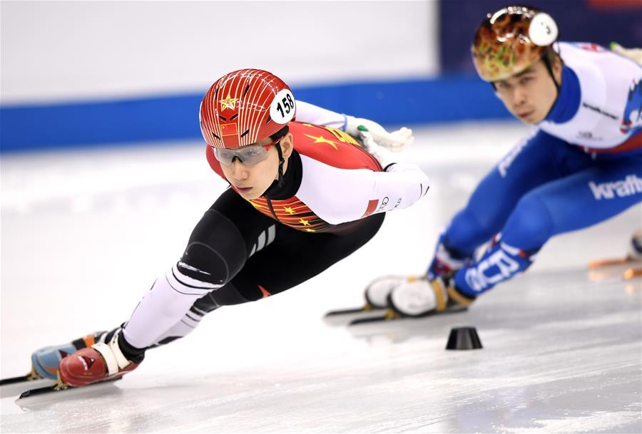 短道速滑——世界杯上海站:韩天宇获男子1000米冠军