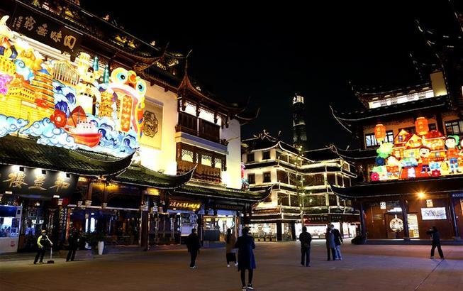 上海豫园重新亮灯