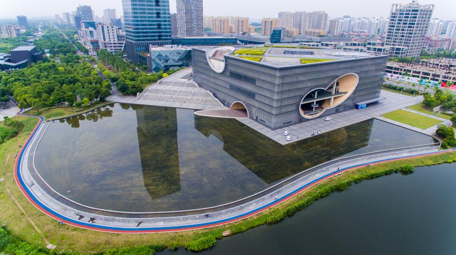 嘉定馬陸鎮打造遠香湖黨建主題公園