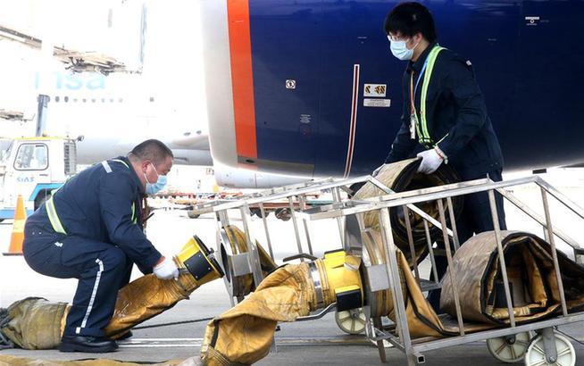 上海浦東機場:高溫下的堅守