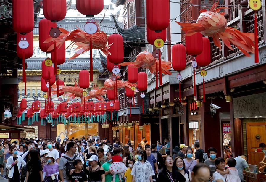 """上海:豫園進入""""暑期檔"""""""