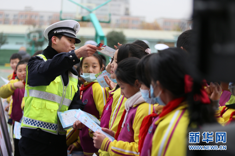 """陕西""""美丽乡村行""""交通安全巡回宣传活动在长安区启动"""