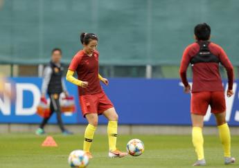 中國隊備戰女足世界杯小組賽第三場比賽