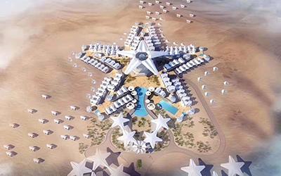沙坡頭景區沙漠星星酒店全面開工