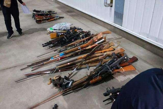 吉林省集中銷毀非法槍爆物品