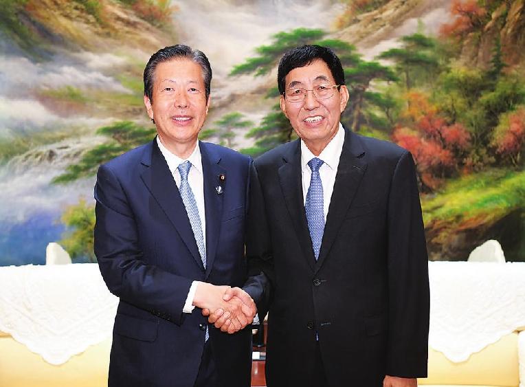 日本公明黨代表團來吉林省 巴音朝魯會見山口那津男