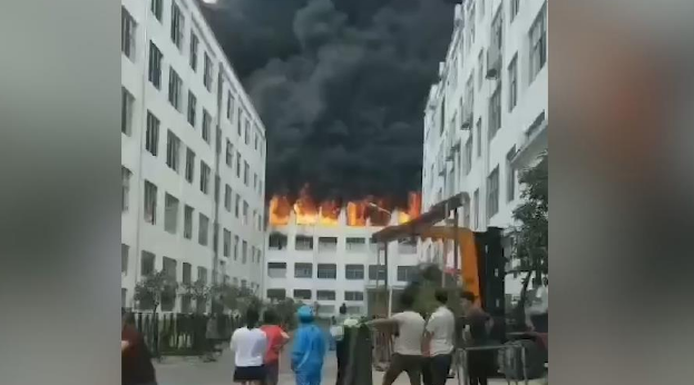 貴州一電器公司廠房發生火災 已造成1死3傷