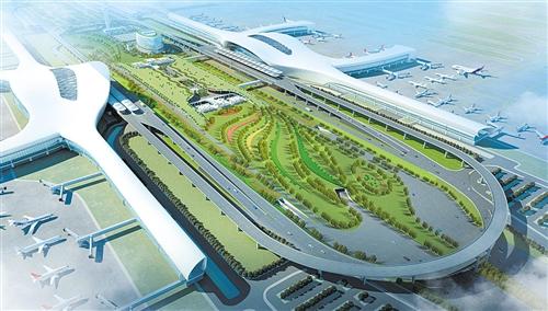 南寧國際空港綜合交通樞紐主體動工