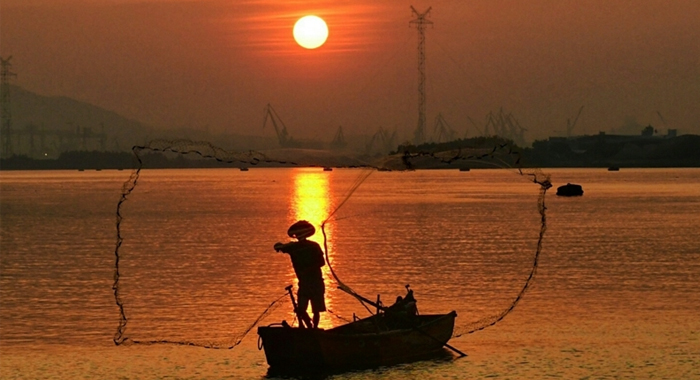鳥瞰廣州漁民新村