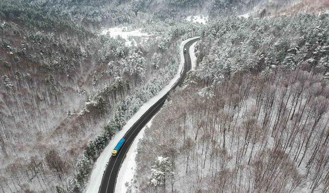 實拍土耳其山區冬日風光