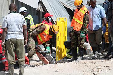 肯尼亞首都發生樓房倒塌事件造成5人死亡