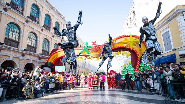 澳門舉行國際幻彩大巡遊歡慶回歸祖國20周年