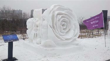 36座大學生創作雪雕亮相長春世界雕塑園 5幅作品獲獎