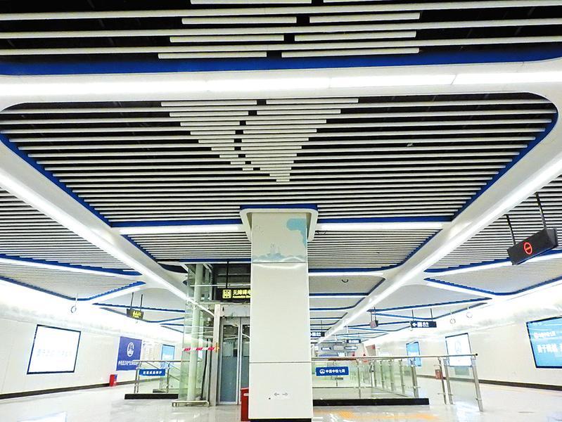 南寧地鐵4號線樣板站良慶大橋南站驚艷亮相