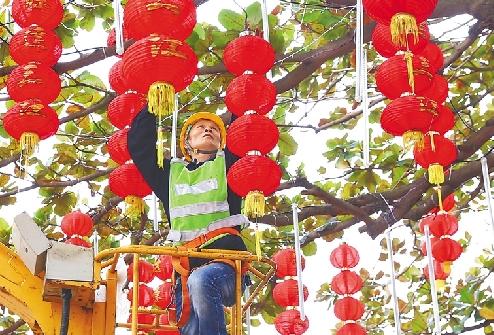 靚城 高挂紅燈籠 紅火迎新春