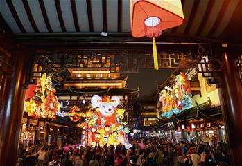 上海豫園:燈海人潮迎新春