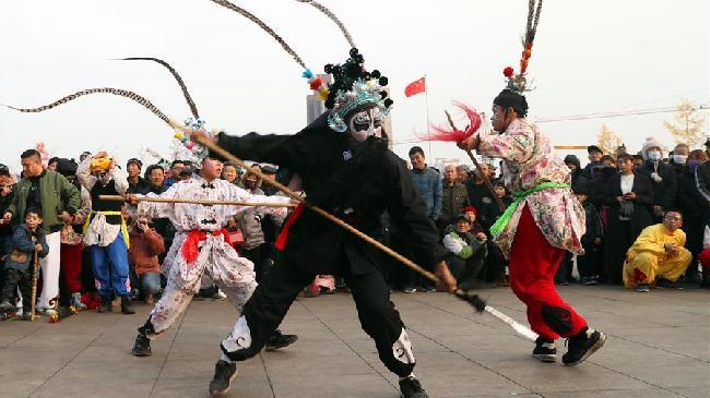 河北石家莊:多彩民俗迎春節
