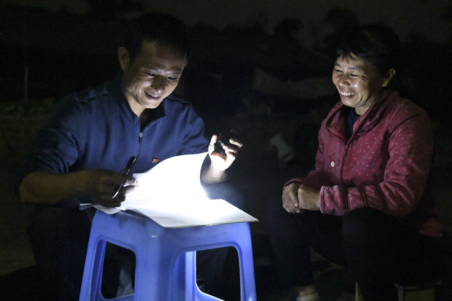 退伍不褪色 扶貧幹部黃軍河的駐村生活