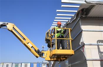 建設中的莫斯科方艙醫院