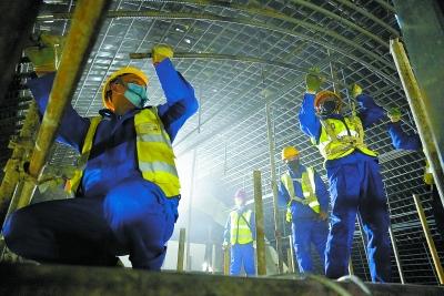 北京軌道交通建設工程全面復工 4萬人安全到崗