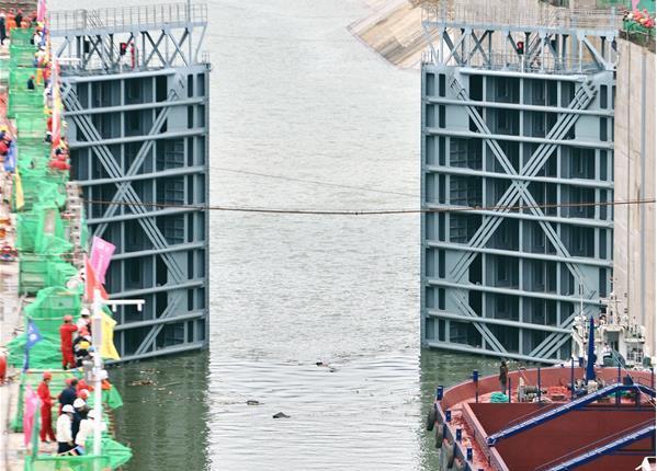 廣西大藤峽水利樞紐工程試通航啟動
