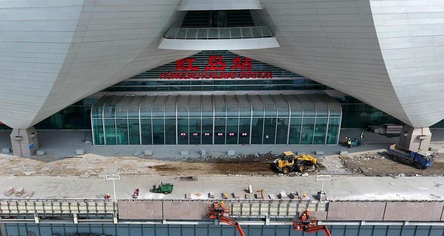 山東:濟青高鐵紅島站建設提速