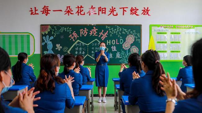 邯鄲開展防疫演練 保障師生安全返校復課