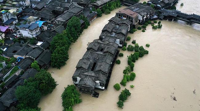 重慶黔江遭遇強降雨襲擊