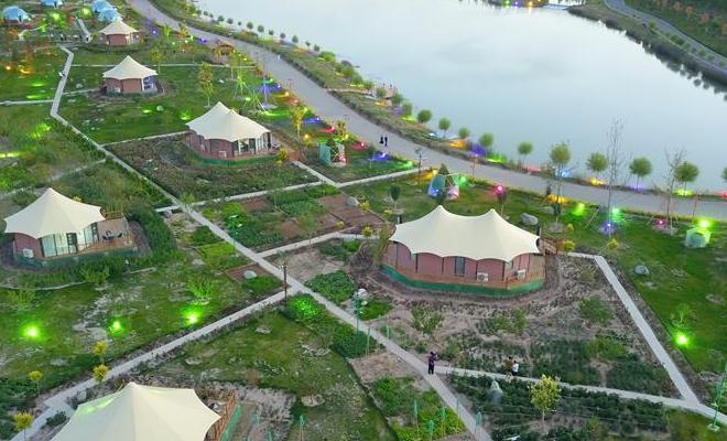 甘肅臨澤:打造丹霞生態康養谷