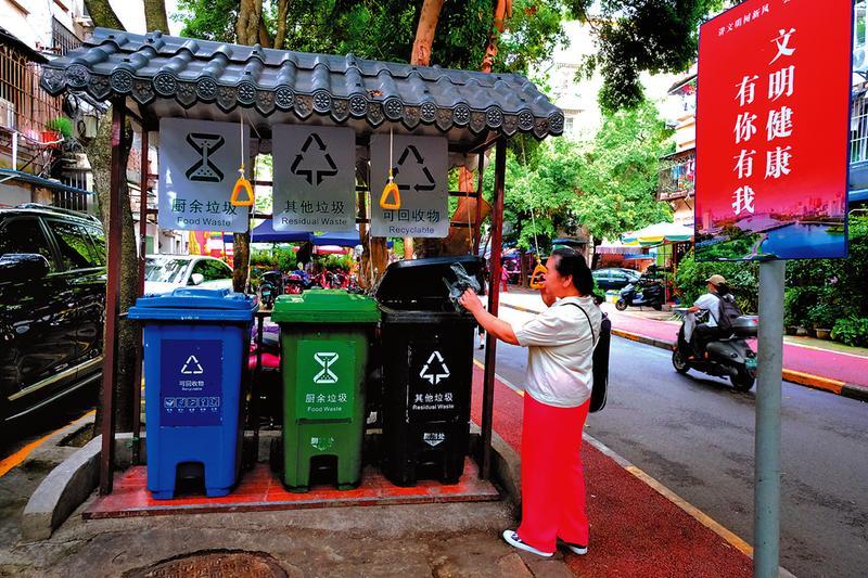 南寧生活垃圾分類管理條例實施首日見聞