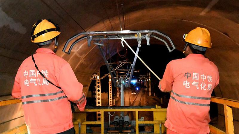 衢寧鐵路電氣化工程進入冷熱滑試驗收官階段