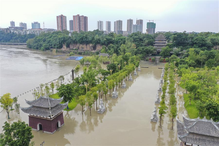 重慶潼南迎來過境洪水