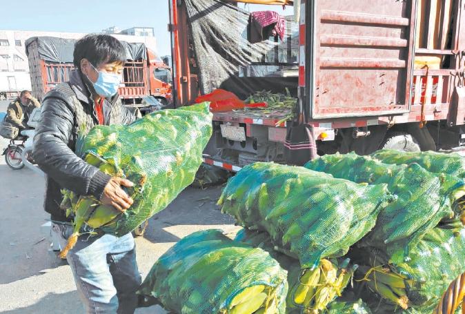 北京新發地果蔬日供應量突破3萬噸