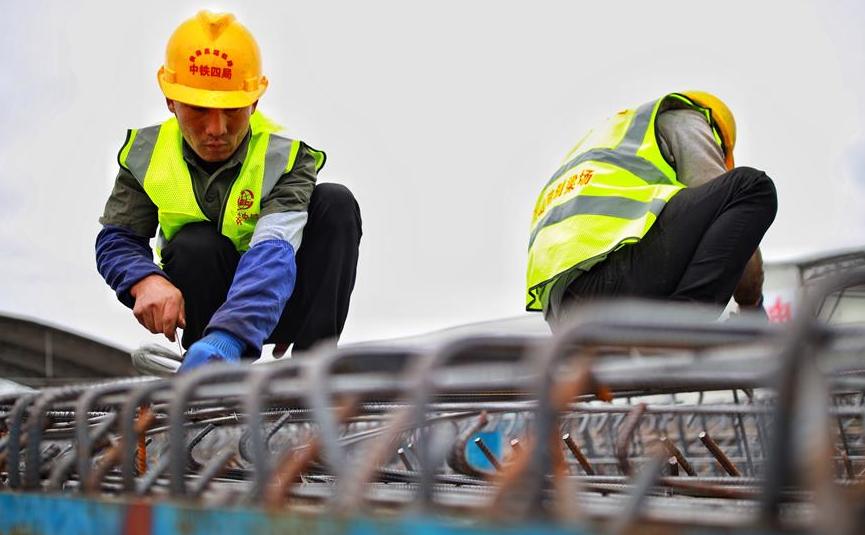 貴南高鐵加緊建設施工
